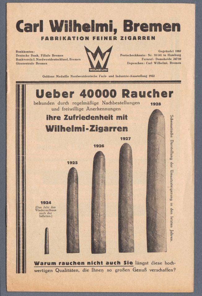 Carl Wilhelmi Hitcollectcom 1920s Carl Wilhelmi Bremen Fabrikation Zigarren