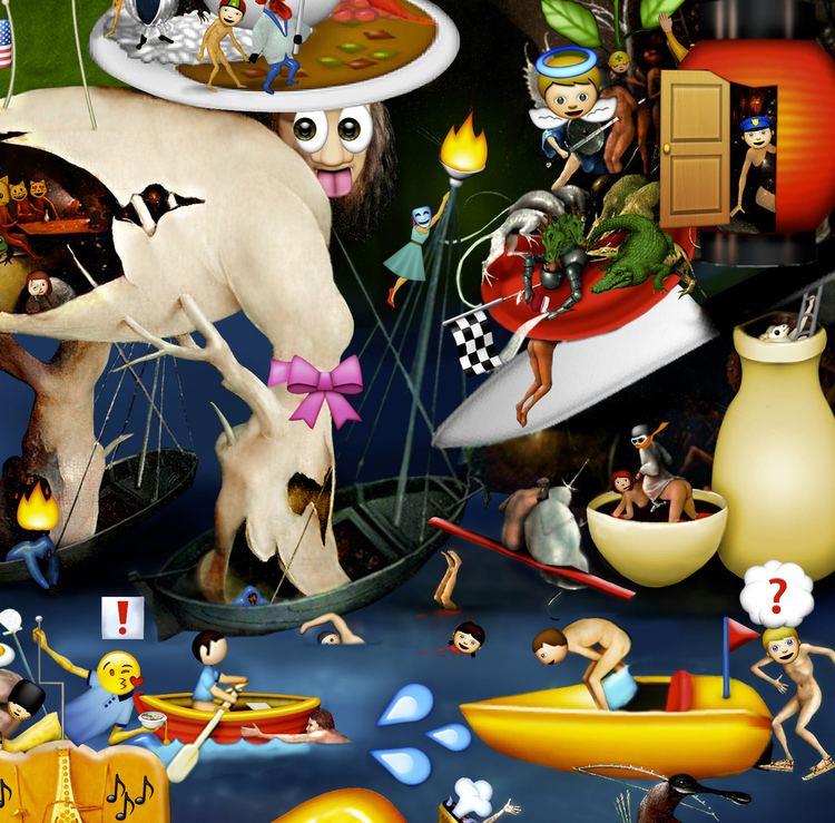 Carla Gannis Carla Gannis The Garden of Emoji Delights AntiUtopias
