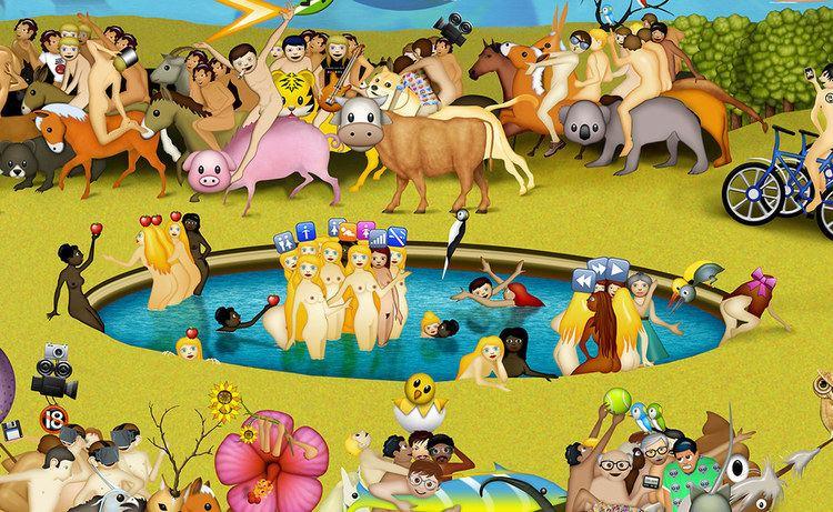 Carla Gannis The Garden Of Emoji Delights