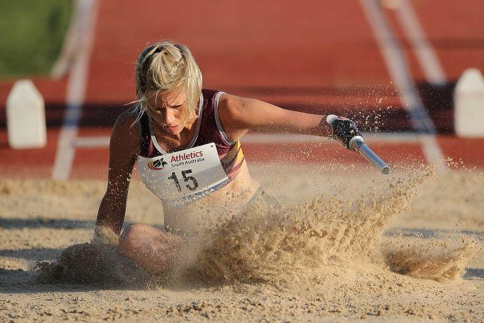 Carlee Beattie Carlee Beattie focused on winning long jump gold at IPC
