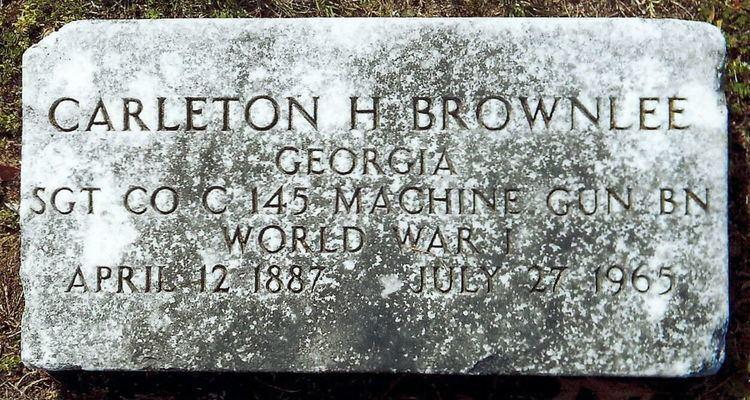 Carleton Haynes Sgt Carleton Haynes Brownlee 1887 1955 Find A Grave Memorial