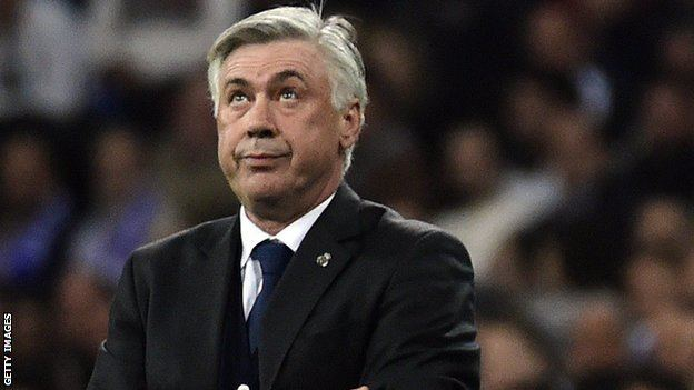 Carlo Ancelotti BBC Sport Champions League Real Madrid boss Carlo