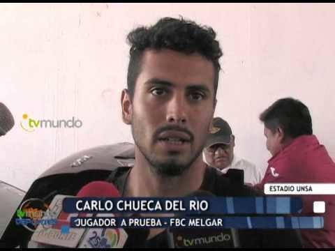 Carlo Chueca Giancarlo Pea y Carlo Chueca a prueba en FBC Melgar