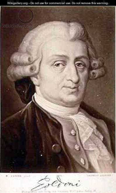 Carlo Goldoni Portrait of Carlo Goldoni 170793 after Hadler E