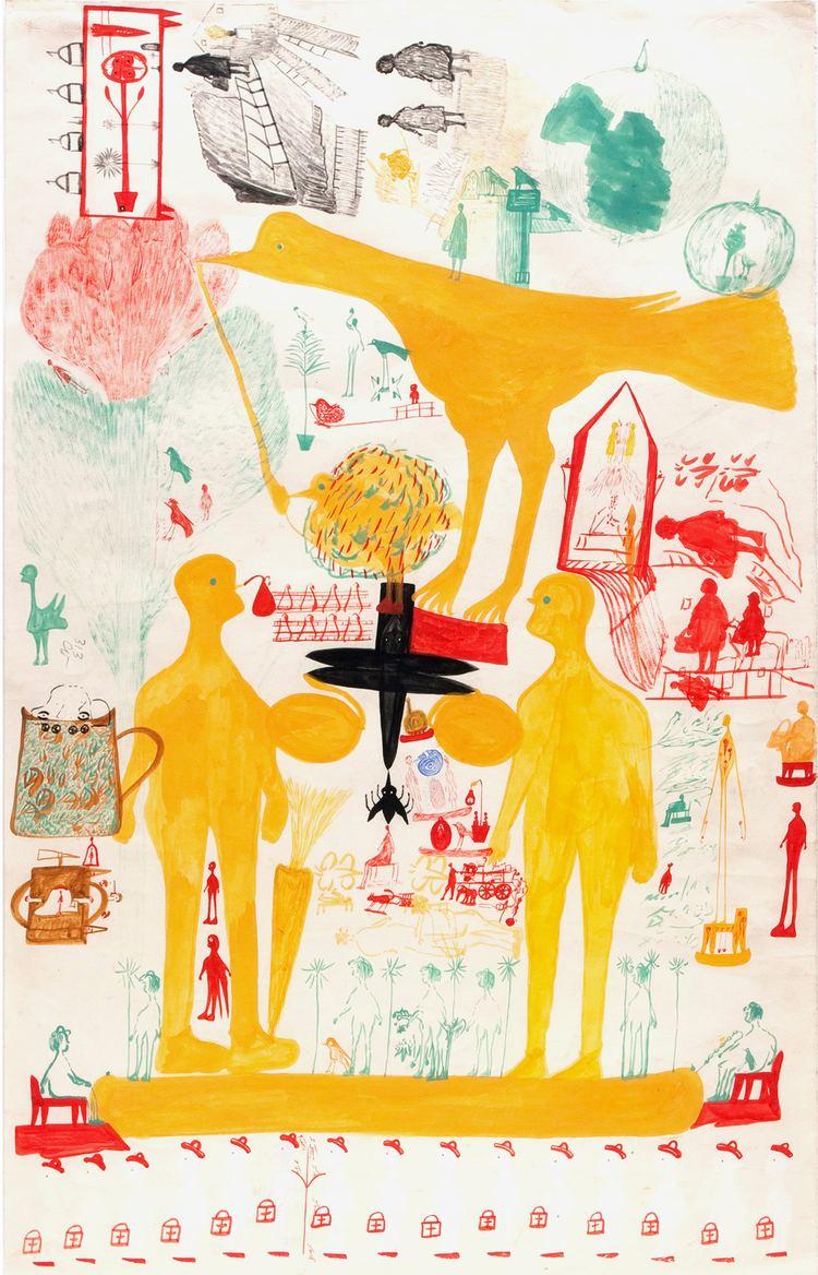 Carlo Zinelli Outsider Folk Art Gallery Outsider Art Carlo Zinelli CZ003