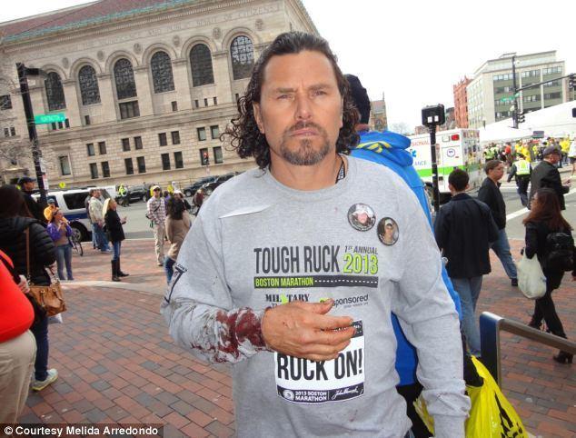 Carlos Arredondo Together strong Boston bombing victim and cowboy hat hero