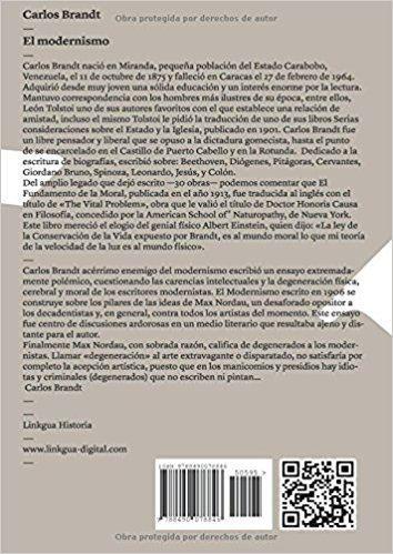 Carlos Brandt El modernismo Spanish Edition Carlos Brandt 9788490078846