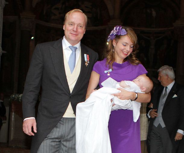 Prince Carlos, Duke of Parma Prince Carlos of BourbonParma and Princess Annemarie christen their