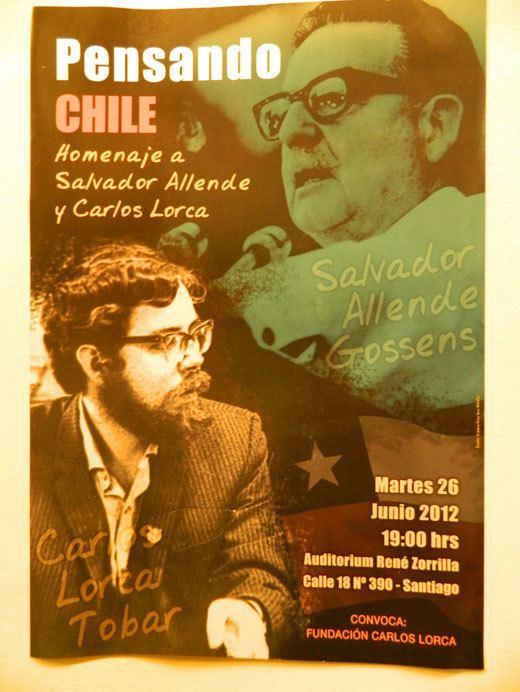 Carlos Lorca Salvador Allende y Carlos Lorca fueron recordados con