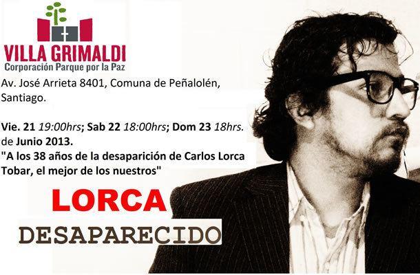 Carlos Lorca Villa Grimaldi Homenaje a Carlos Lorca en Villa Grimaldi