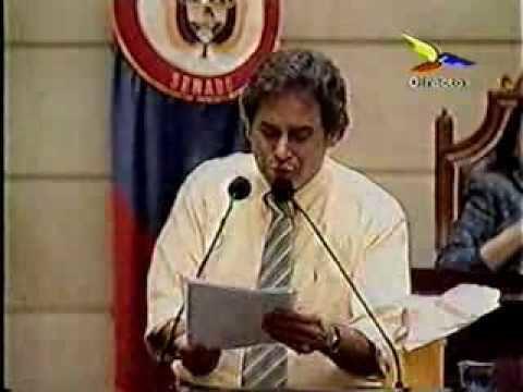 Carlos Moreno de Caro Moreno de Caro en senado 2005 Suelta mariposas YouTube