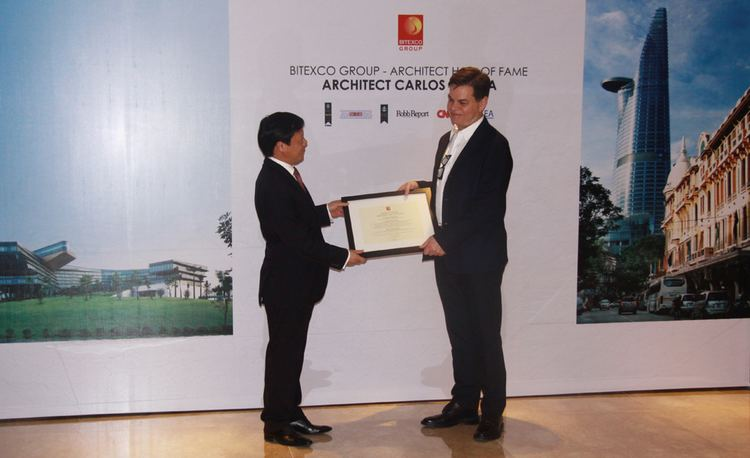 Carlos Zapata Bitexco Group awarded Bitexco Group Architect Hall of Fame
