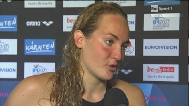 Carlotta Zofkova Intervista a Carlotta Zofkova VIDEO Europei di nuoto RaiSport