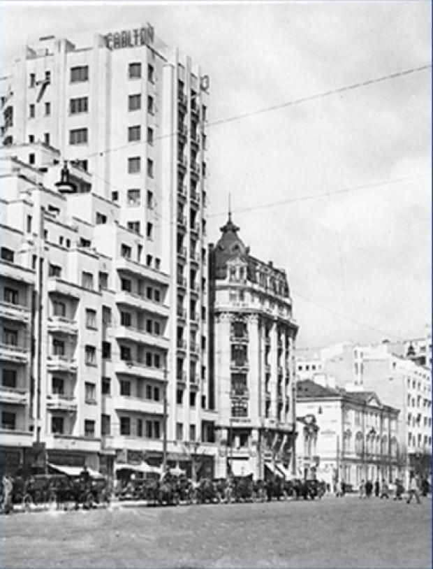Carlton Bloc Imagini rare cu Bucuretiul dup cutremurul din 1940 Bloc de 14