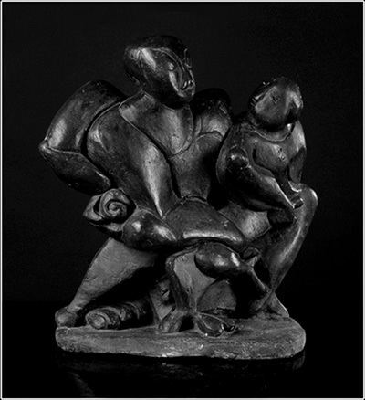 Carmel Berkson Narasimha Hiranyakashipu Sculpture by Carmel Berkson Sculpture