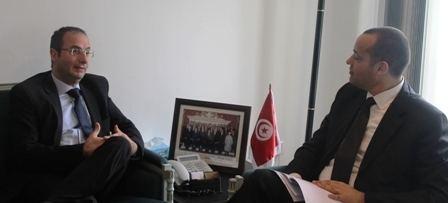 Carmel Inguanez Ambassador Carmel Inguanez meets newly appointed Minister Yassine Brahim