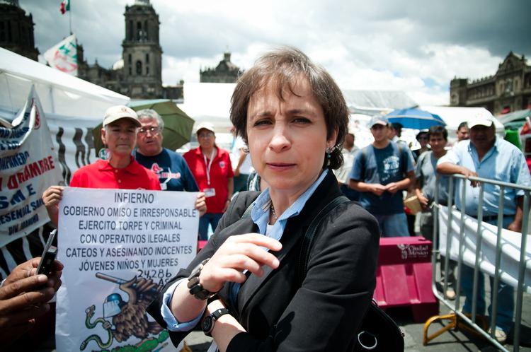 Carmen Aristegui FileCarmen Aristegui en el campamento del SMEjpg Wikimedia Commons