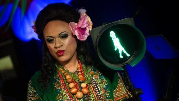 Carmen Rupe Carmen Rupe lighting up Wellington streets once again Stuffconz