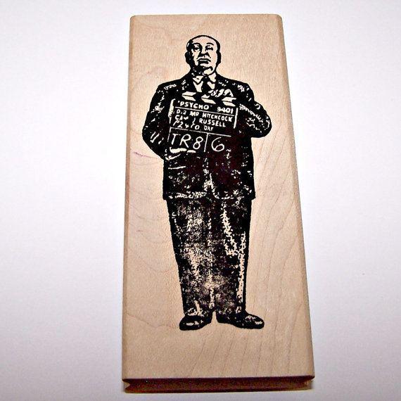 Carmens Veranda movie scenes ALFRED HITCHCOCK Rubber Stamp by Carmen s Veranda