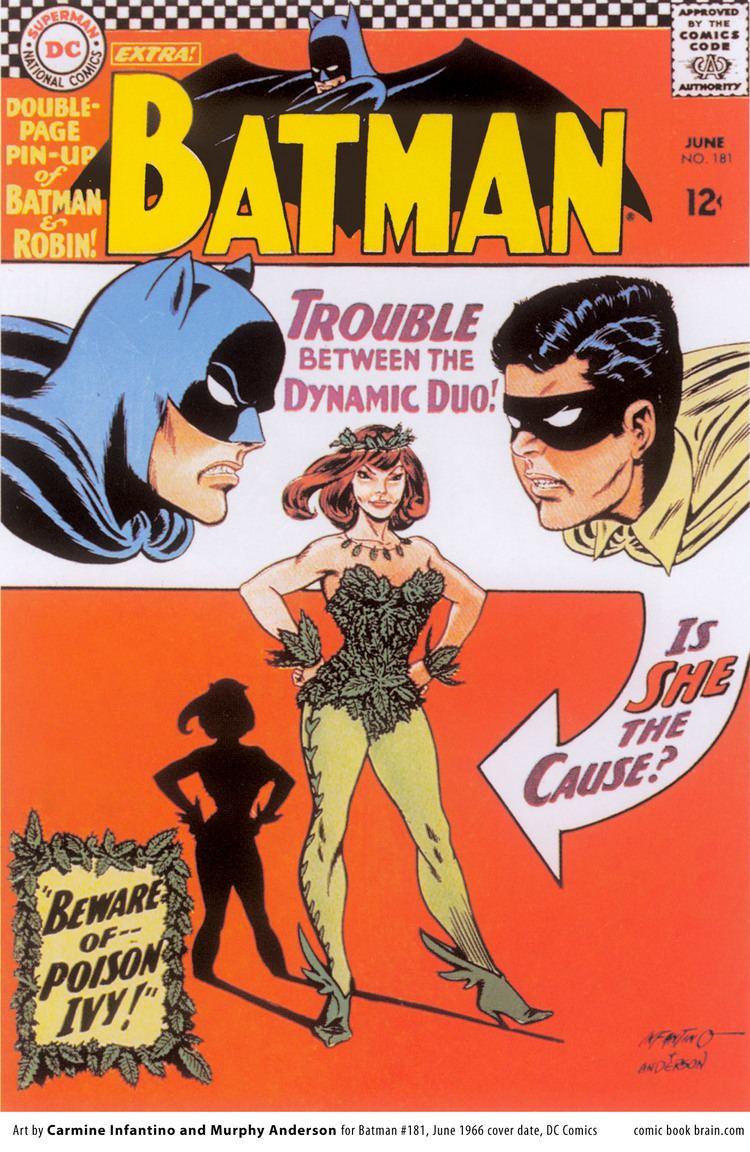 Carmine Infantino Batman issue 181 Cover by Carmine Infantino Poison Ivy