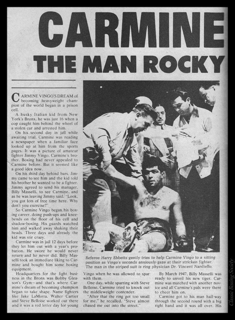 Carmine Vingo Classic Boxing Society