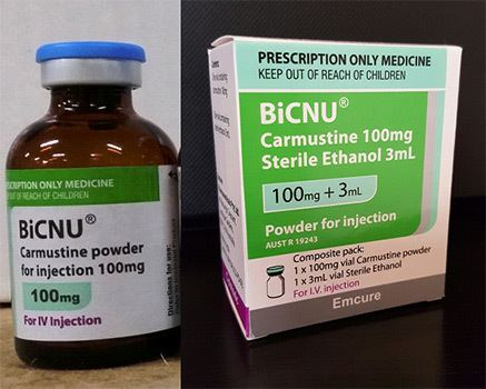 Carmustine Counterfeit medicine alert BiCNU carmustine for injection 100mg
