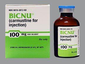 Carmustine carmustine intravenous Uses Side Effects Interactions Pictures