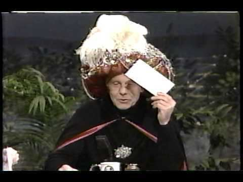 Carnac the Magnificent Johnny Carson one of the final Carnac segments YouTube
