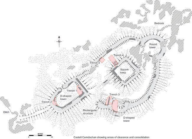 Carndochan Castle Gwynedd Archaeological Trust Ymddiriedolaeth Archaeolegol Gwynedd