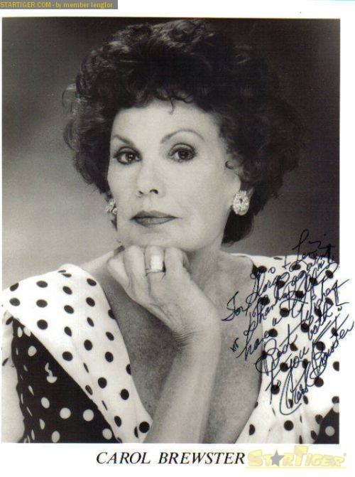 Carol Brewster Carol Brewster autograph collection entry at StarTiger