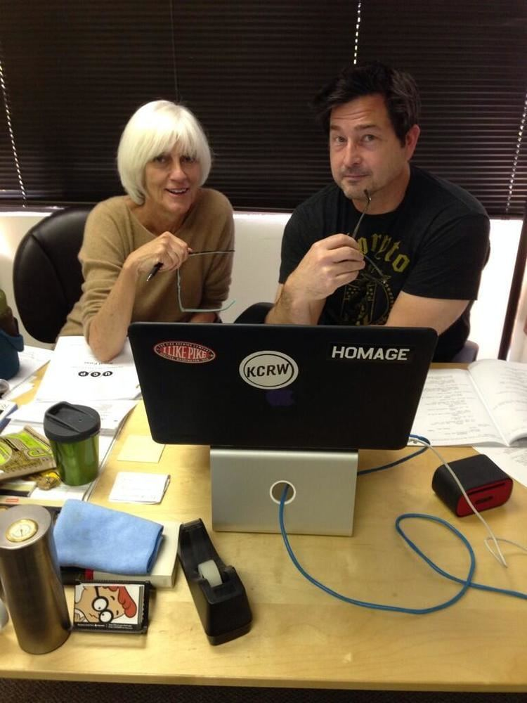Carol Flint Exec producers Carol Flint and Jon Sherman hard at work co writing