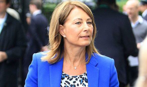 Carole Middleton Royal blue Carole Middleton dons another blue outfit at