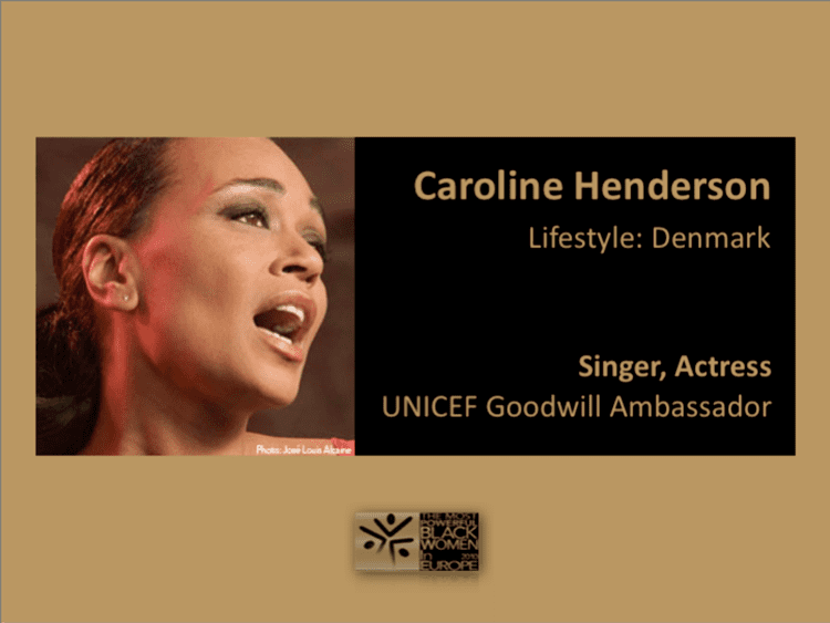 Caroline Henderson (singer) Caroline Henderson Archives Black Women in Europe Blog