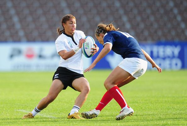 Caroline Ladagnous Renee Wickliffe Pictures New Zealand v FranceIRB Womens