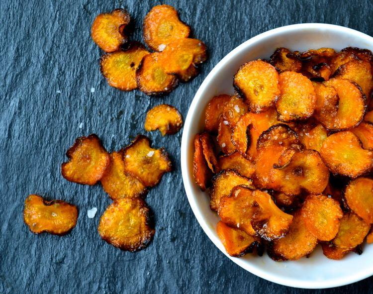Carrot chips Crispy Spiced Carrot Chips Every Last Bite