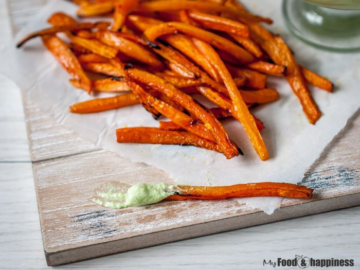 Carrot chips Ovenbaked Carrot chips My Food amp Happiness