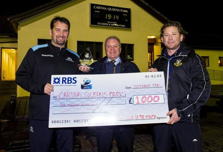 Cartha Queens Park RFC Cartha Queens crowned as RBS Club of the Month Scottish Rugby Union