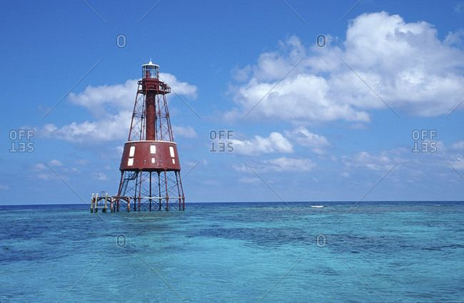 Carysfort Reef Light carysfort reef light stock photos OFFSET