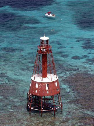 Carysfort Reef Light Carysfort Reef Lighthouse Florida at Lighthousefriendscom