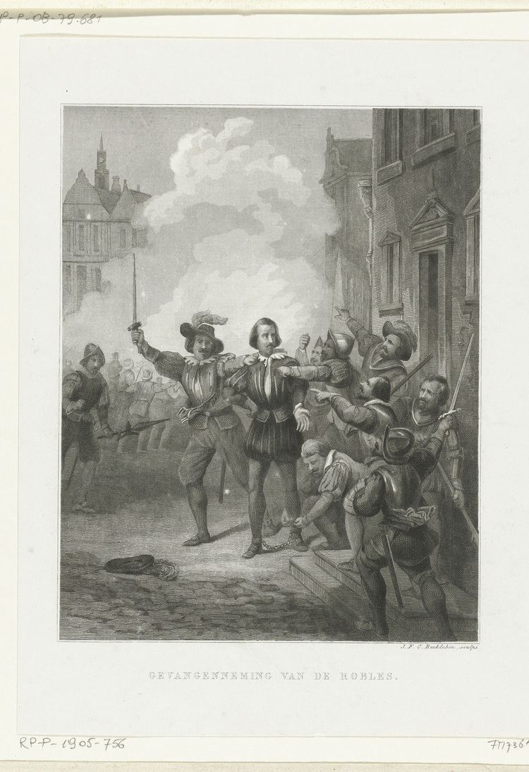Caspar de Robles Gevangenneming van Caspar de Robles 1576 Het Geheugen