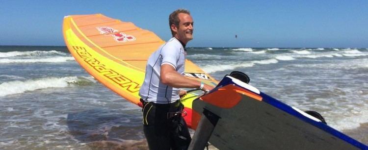 Casper Bouman Casper Bouman zegeviert tijdens Ronde om Texel windsurfen 2015