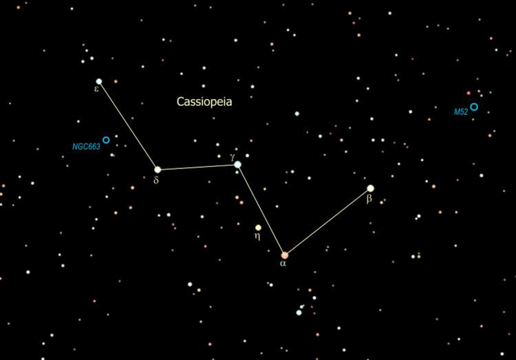 Cassiopeia (constellation) Cassiopeia Constellation Project ThingLink