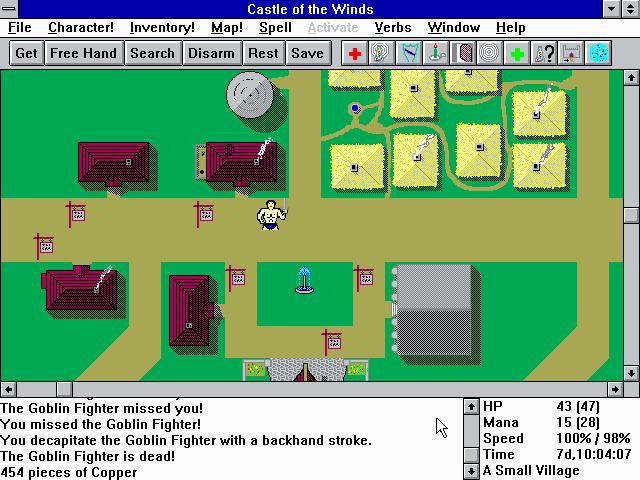 Castle of the Winds Castle of the Winds Part1amp2 Windows 311 Play DOS games online