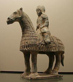 A Cataphract sculpture