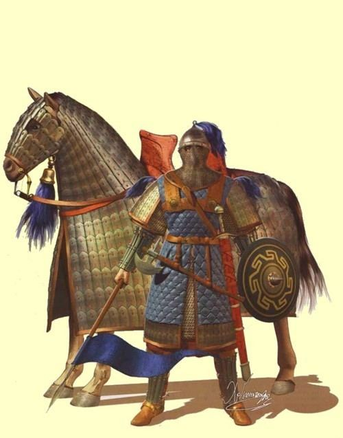 A Cataphract with a big horse