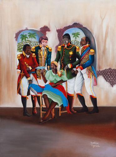 Catherine Flon Arts of Haiti Catherine Flon sews new flag of Haiti
