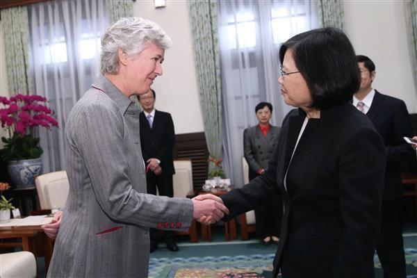 Catherine Nettleton President Tsai meets Representative Catherine Nettleton of British
