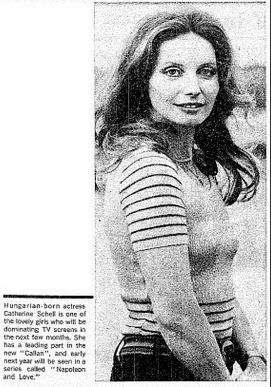 Catherine Schell Catherina Schell a minor Bond Girl made good