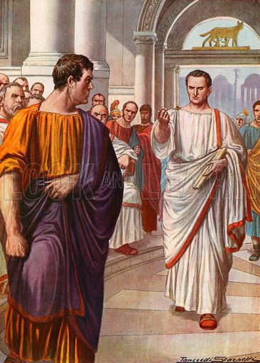Catiline Cicero39s first oration against Catiline Look and Learn