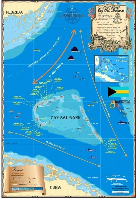 Cay Sal Bank Bahamas Maps Cay Sal Island Map Store Caribbean Bahamas and